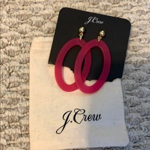 Jcrew pink and gold earrings